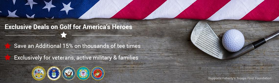 Military tee times militaryteetimes golf specials for americas heroes fandeluxe Image collections